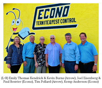 Arrow Exterminators Announces The Acquisition Of Econo Termite Pest Control In Englewood Fl